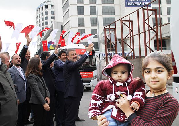 124 Suriyeli daha uğurlandı