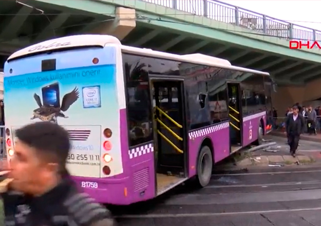 Otobüs katener telini kopardı! Tramvay seferleri aksadı