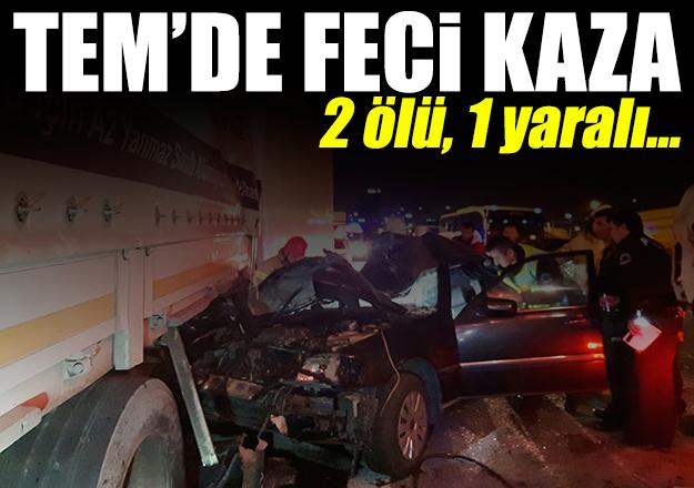 TEM'de feci kaza: 2 ölü, 1 yaralı