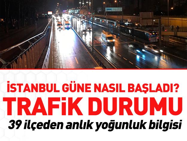 10 Aralık İstanbul Yol Durumu - Trafik Haritası