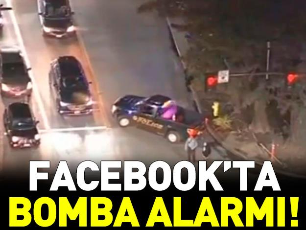 Facebook ofisinde bomba alarmı!