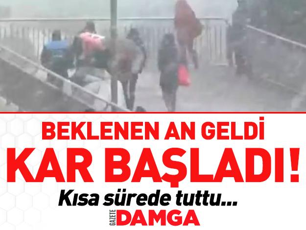 İstanbul'a kar geldi! İlk görüntüler ve hava durumu