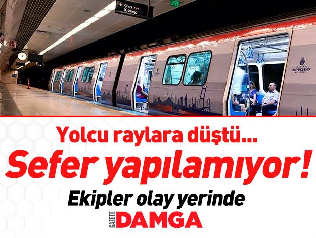 İstanbul Osmanbey Metro durağında yolcu raylara düştü