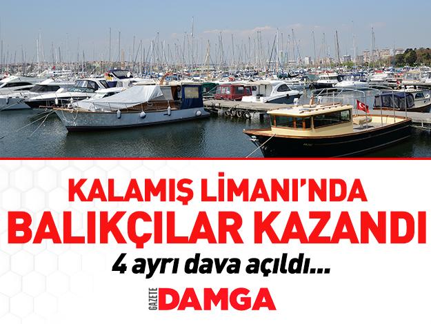 Kalamış Limanı'nda balıkçılar kazandı