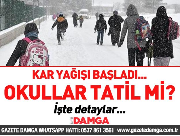 Kar başladı! İstanbul'da 20 Aralık Perşembe okullar tatil mi?