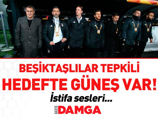 Malmö'ye yenilen Beşiktaş'ta Şenol Güneş'in istifası isteniyor