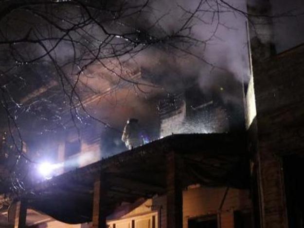 Beykoz'daki metruk binada yangın