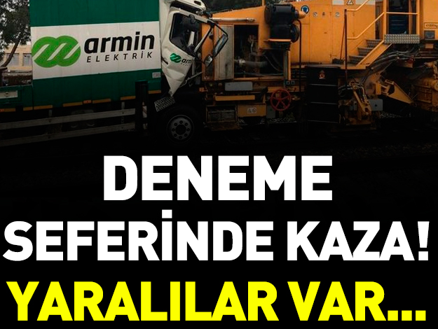 İstanbul Florya'da deneme seferi yapan trenler çarpıştı