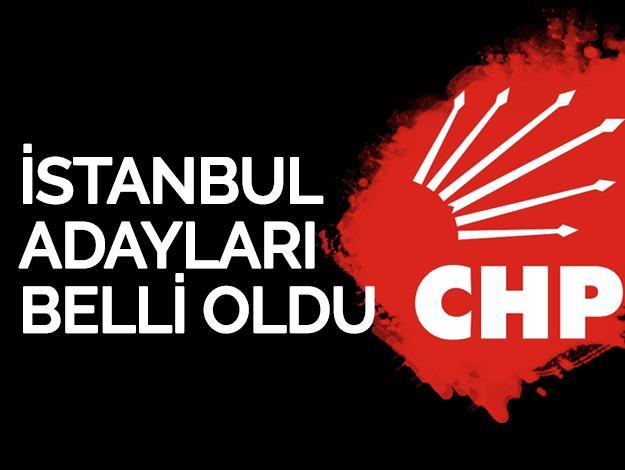 İşte CHP'nin İstanbul ilçe adayları...