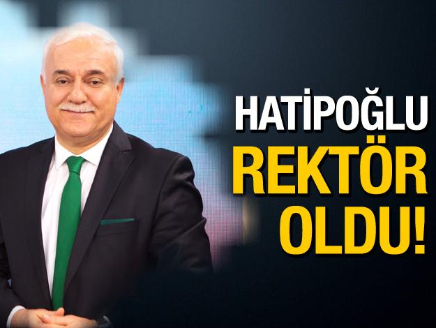 Nihat Hatipoğlu Resmi Gazete kararıyla rektör oldu