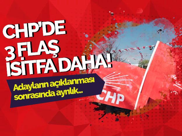 CHP Adalar'da üç istifa!