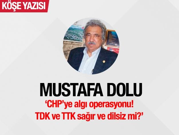 CHP'ye algı operasyonu! TDK ve TTK sağır ve dilsiz mi?