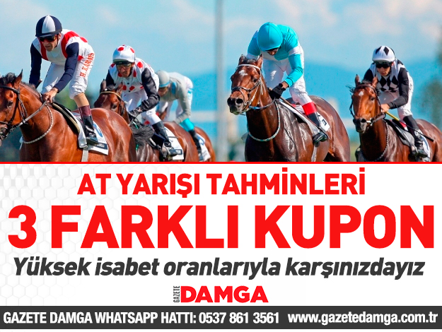 28 Mart 2019 Perşembe İzmir ve Şanlıurfa At Yarışı Tahminleri - Hazır Kuponlar