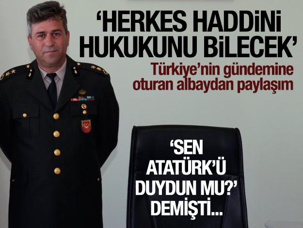 Albay Önder İrevül'den Atatürk paylaşımı