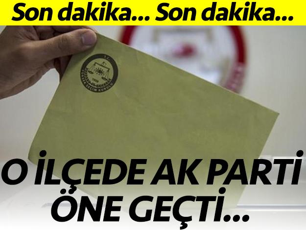 Büyükçekmece'de AK Parti öne geçti