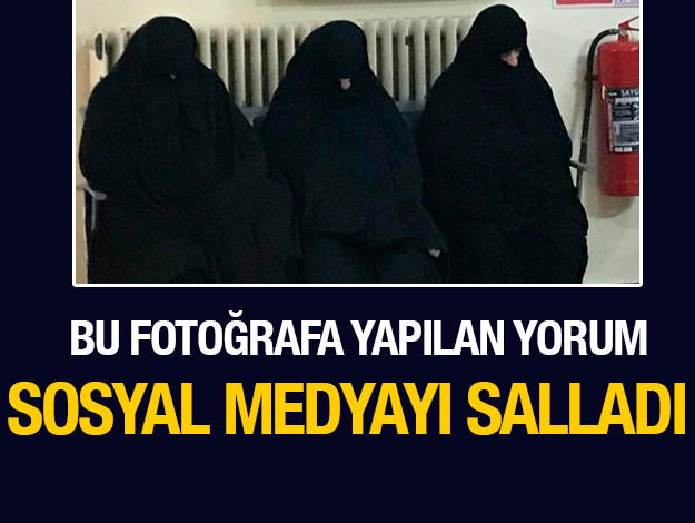 Çarşaf giyen kadınların fotoğrafına yapılan yorum sosyal medyayı salladı