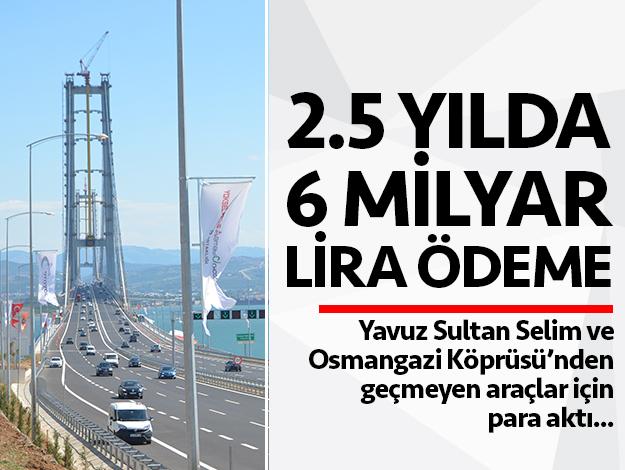 2 buçuk yılda 6 milyar lira