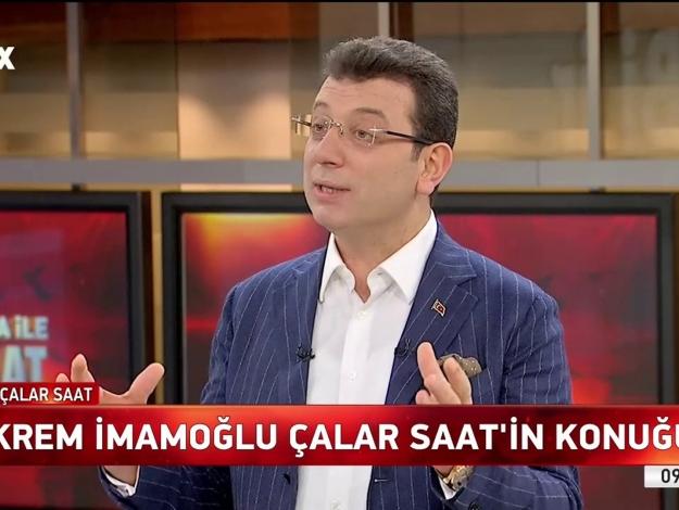 Ekrem İmamoğlu FOX TV Çalar Saat 18 Nisan Perşembe canlı yayın izle
