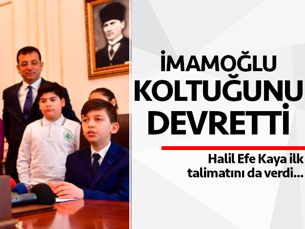 Ekrem İmamoğlu 23 Nisan'da koltuğunu devretti
