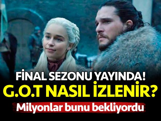 Game Of Thrones 8. sezon izle! GOT HBO Digiturk şifresiz izle