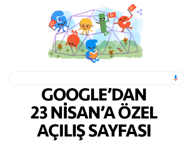 Google 23 Nisan Doodle'ı ile Türkiye'yi unutmadı