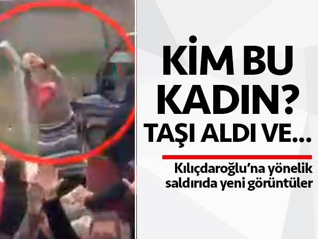 Kemal Kılıçdaroğlu'nun aracına kocaman taşla saldırı!