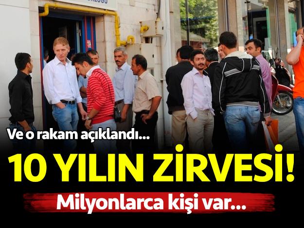 Türkiye'de işsizlik 10 yılın zirvesini gördü! İşte tarihi oran