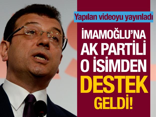 AK Partili o isimden Ekrem İmamoğlu'na destek!