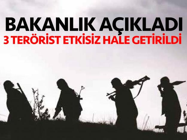 İçişleri Bakanlığı'ndan terör operasyonu açıklaması