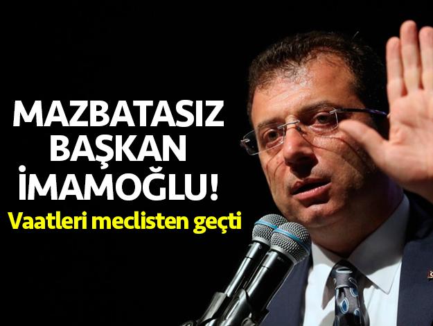 Mazbatasız başkan Ekrem İmamoğlu!