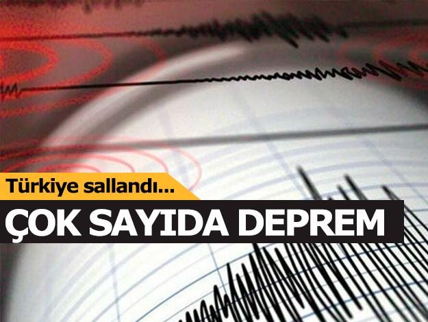 12 Haziran Çarşamba depremleri - Bugün yaşanan depremlerin listesi