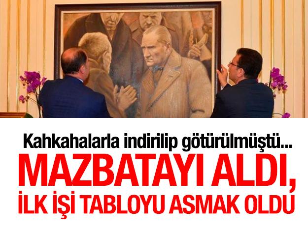 Atatürk tablosu eski yerine asıldı