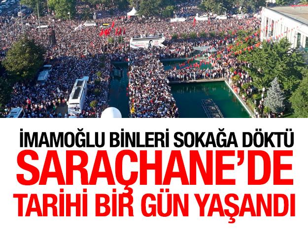 Ekrem İmamoğlu'nu binlerce kişi karşıladı