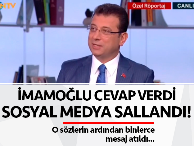 Ekrem İmamoğlu'nun Okan Müderrisoğlu'na verdiği cevap olay oldu!