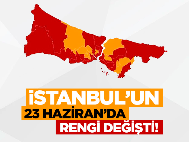 İstanbul'un rengi değişti