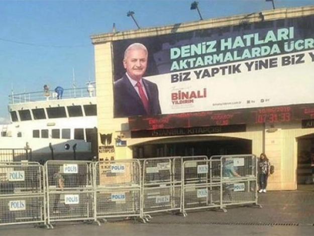 YSK Erdoğan'ın afişini kaldırdı