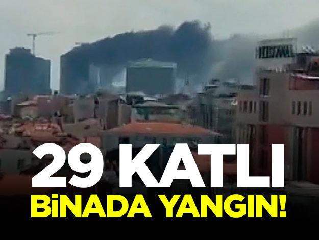 29 katlı binada yangın! Dumanlar her yerden görünüyor