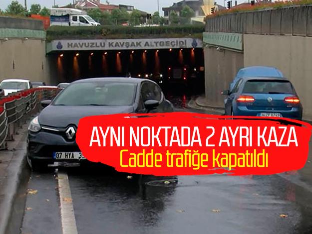 Bakırköy'de aynı noktadaki iki kaza caddeyi kapattırdı