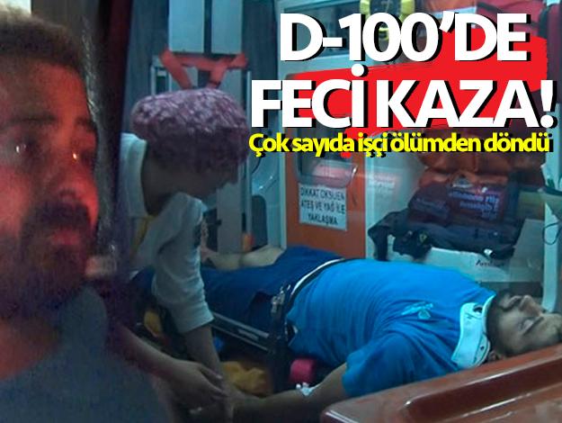 Bakırköy'de feci kaza! İşçiler ölümden döndü