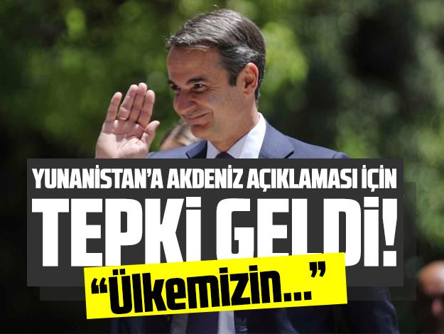 Dışişleri Bakanlığı'ndan Yunanistan'a Akdeniz tepkisi