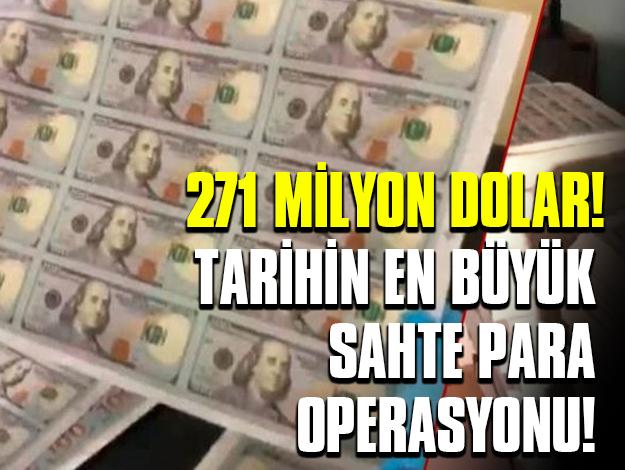 Esenyurt'ta sahte para operasyonu: Tam 271 milyon dolar!