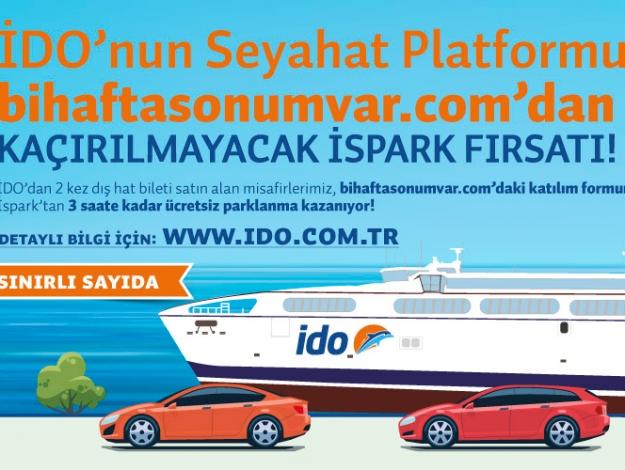 İDO'dan yolcularına ücretsiz otopark müjdesi