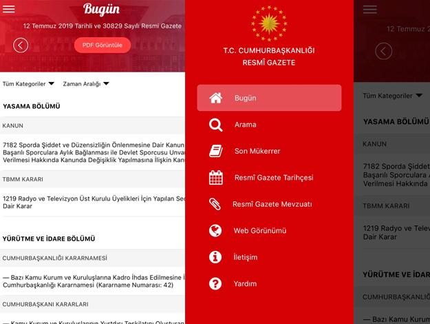 Resmi Gazete artık App Store ve Google Play'de