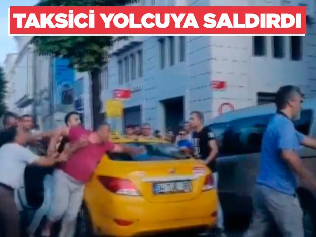 Taksici yolcuya bıçakla saldırdı