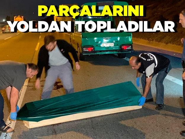 TEM Otoyolu'nda feci ölüm! Yoldan parçalarını topladılar