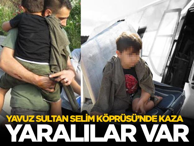Yavuz Sultan Selim Köprüsü'nde otobüs kazası: Çok sayıda yaralı var