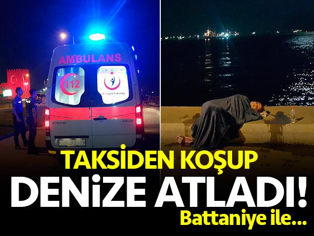 Zeytinburnu'nda intihar girişimi! Taksiden koştu ve atladı