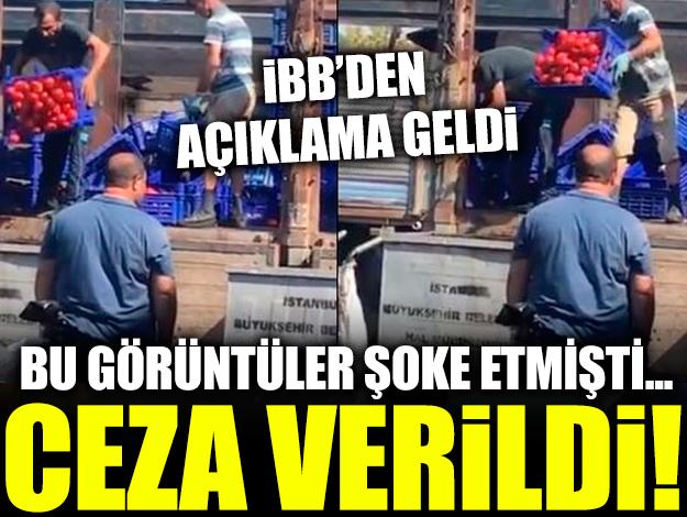 Bayrampaşa'da tonlarca domates dökmenin cezası 4 bin 200 lira!