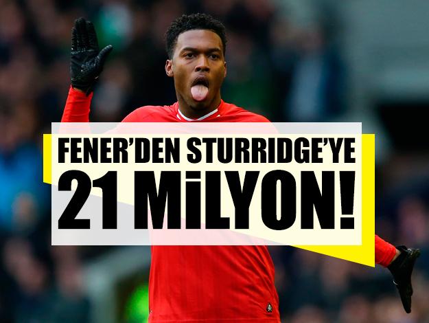 Fenerbahçe'den Daniel Sturridge'ye 21 milyon!