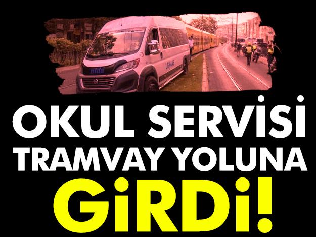 Fındıkzade'de tramvay yoluna servis girdi! Seferler durdu